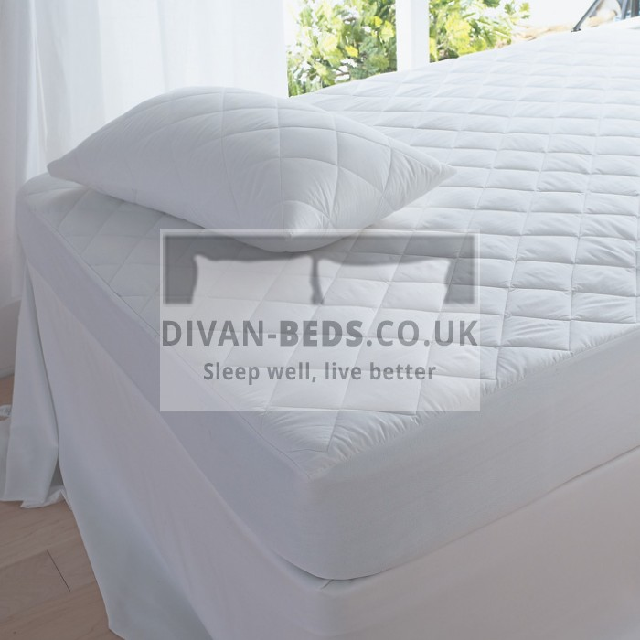 Fitted & Quilted Microfibre Mattress Cover - Extra Deep