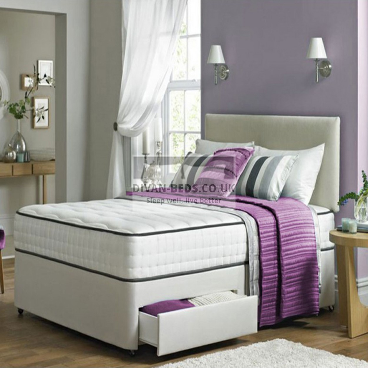 Kensington Divan Bed Set With High Density Open Spring