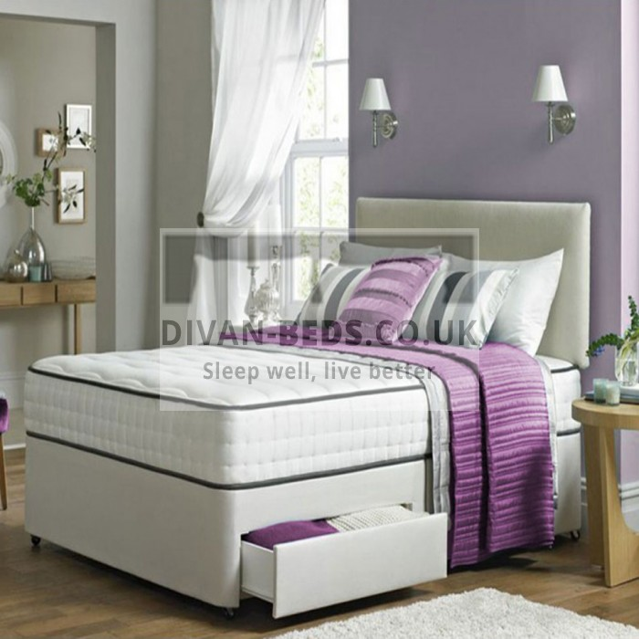 Henry Divan Bed Set with High Density Open Spring Memory Foam Mattress