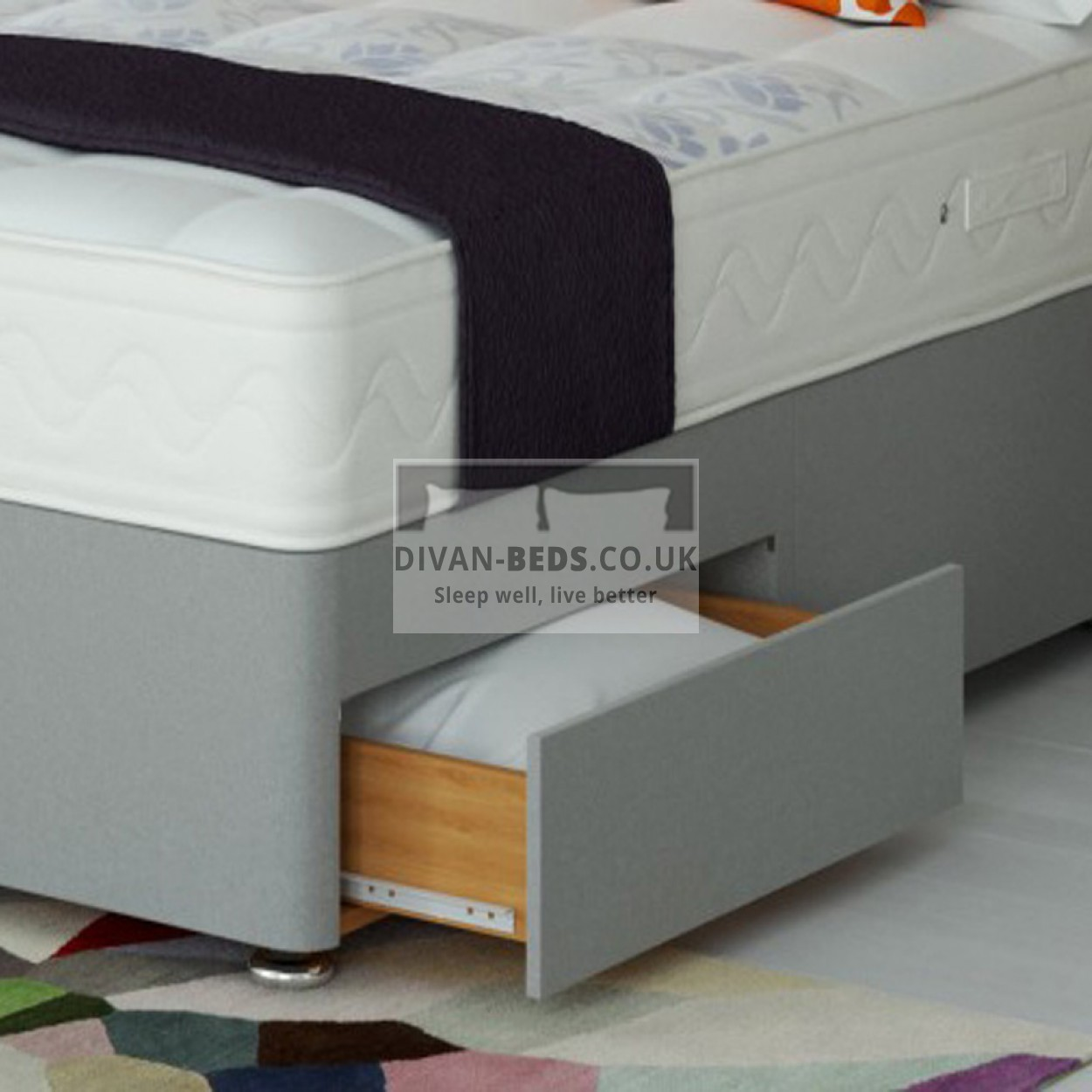 Alfie Divan Bed Set With High Density Open Spring Memory