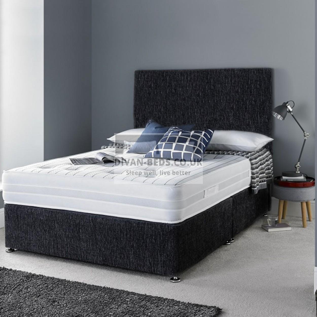 walter divan bed set with 3d airflow spring memory foam. Black Bedroom Furniture Sets. Home Design Ideas