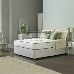 Bedford Divan Fabric Bed with Orthopaedic Spring Memory Foam Mattress