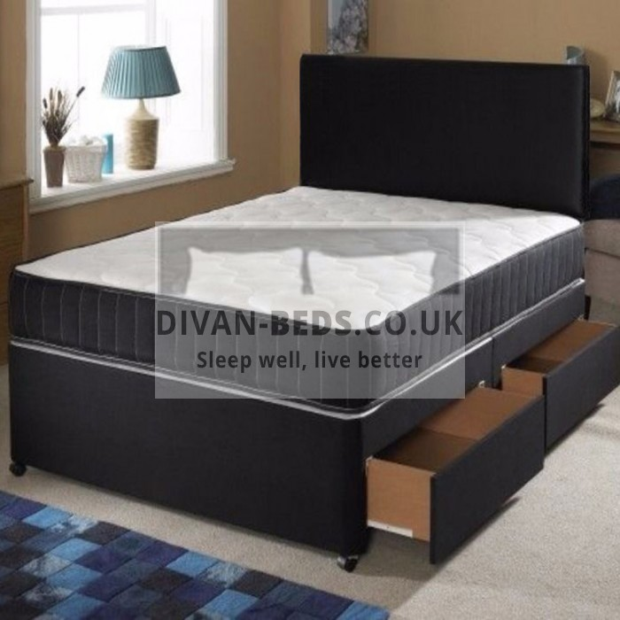 Addison Divan Bed With Spring Memory Foam Mattress Guaranteed Cheapest Free Fast Delivery