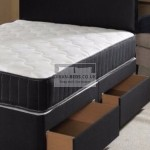 Divan-Beds.co.uk Black Divan Bed with Essential Spring Memory Foam Mattress and Headboard