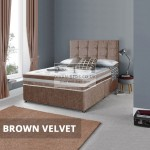 Marcus House Crushed Velvet Divan with 3D Airflow Spring Memory Mattress