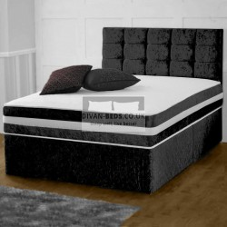 Darius House Crushed Velvet Divan Bed with 2000 Pocket Orthopaedic Mattress