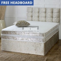 Patrick Crushed Velvet Divan Bed with 1500 Pocket Spring Orthopaedic Mattress