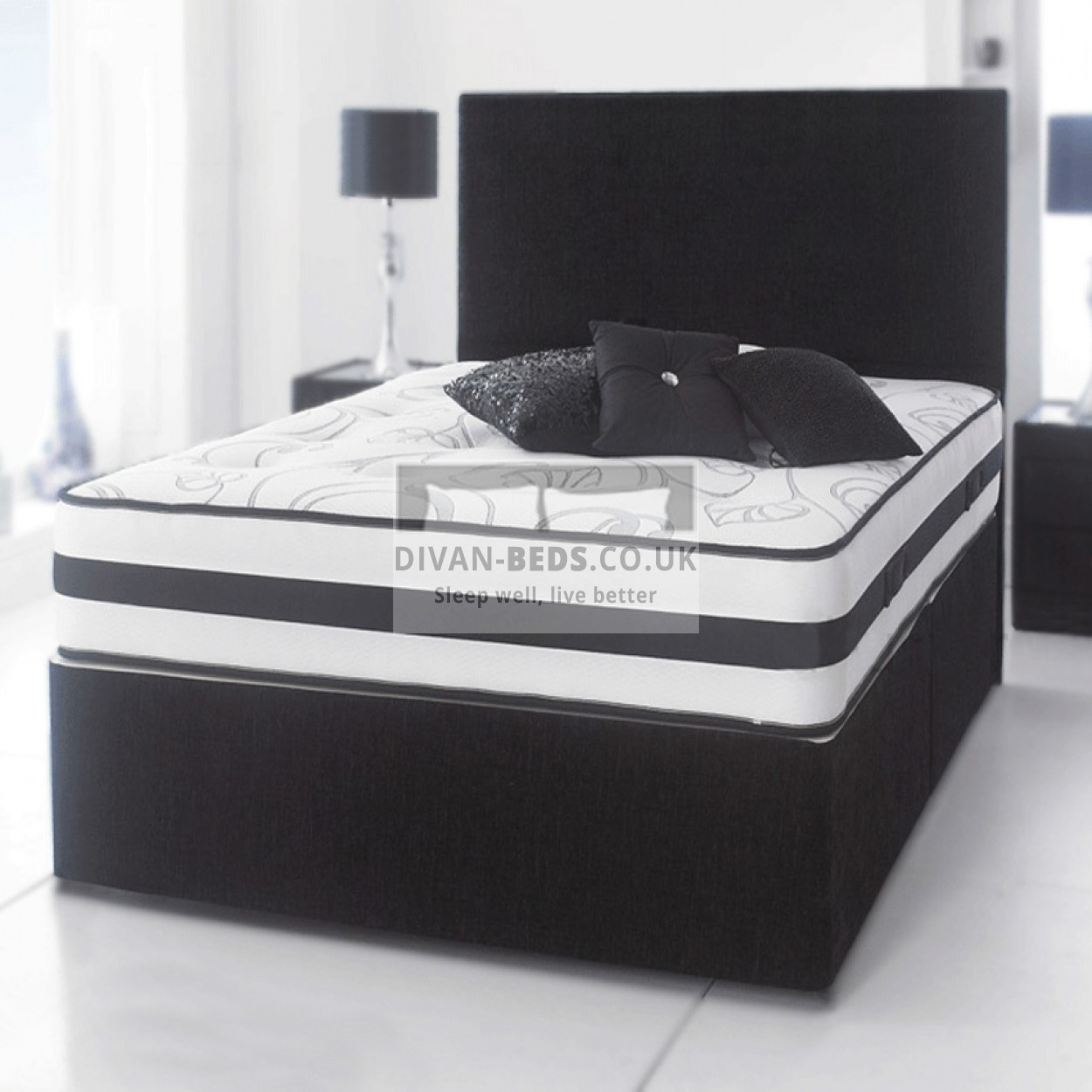 Parkside Divan Bed With Spring Memory Foam Mattress Guaranteed Cheapest Free Fast Delivery