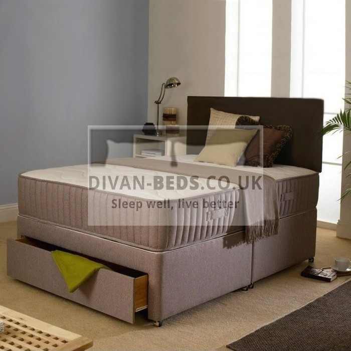 Divan-Beds.co.uk Divan Bed with Orthopaedic Spring Mattress and Headboard