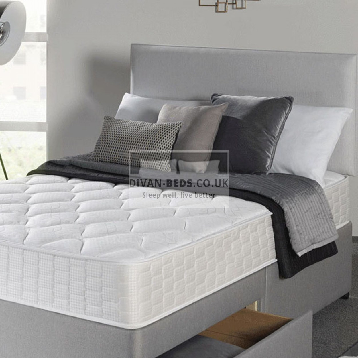 Richard Divan Bed With Spring Memory Foam Mattress
