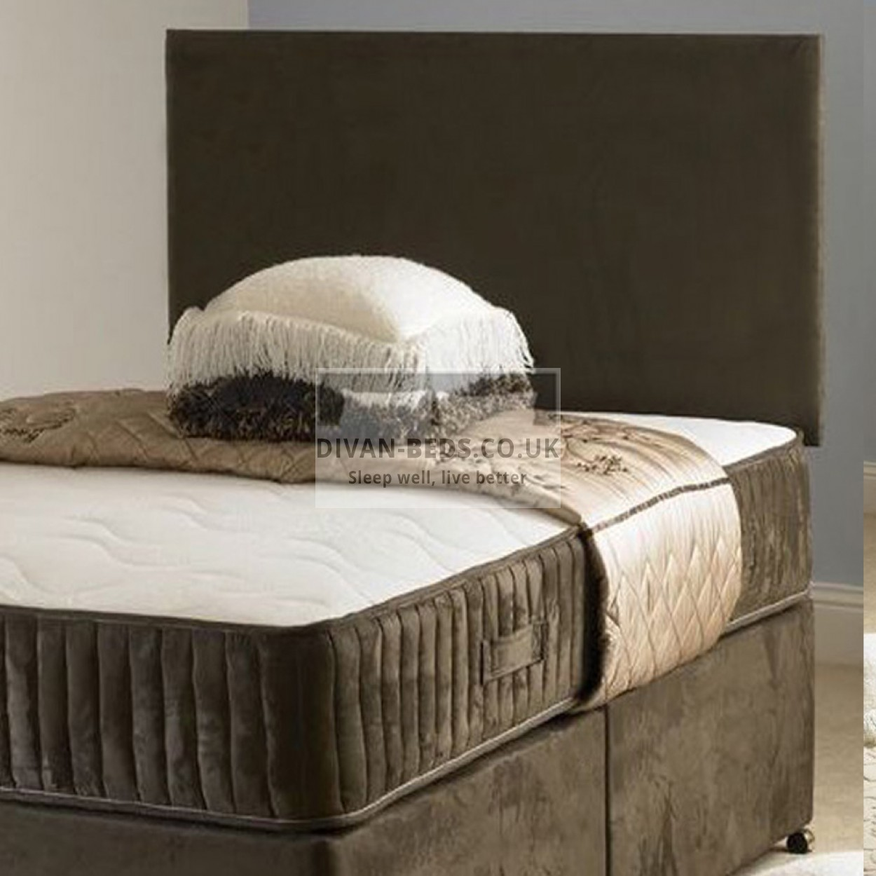 Carlo divan bed with spring memory foam mattress for Mattress with divan