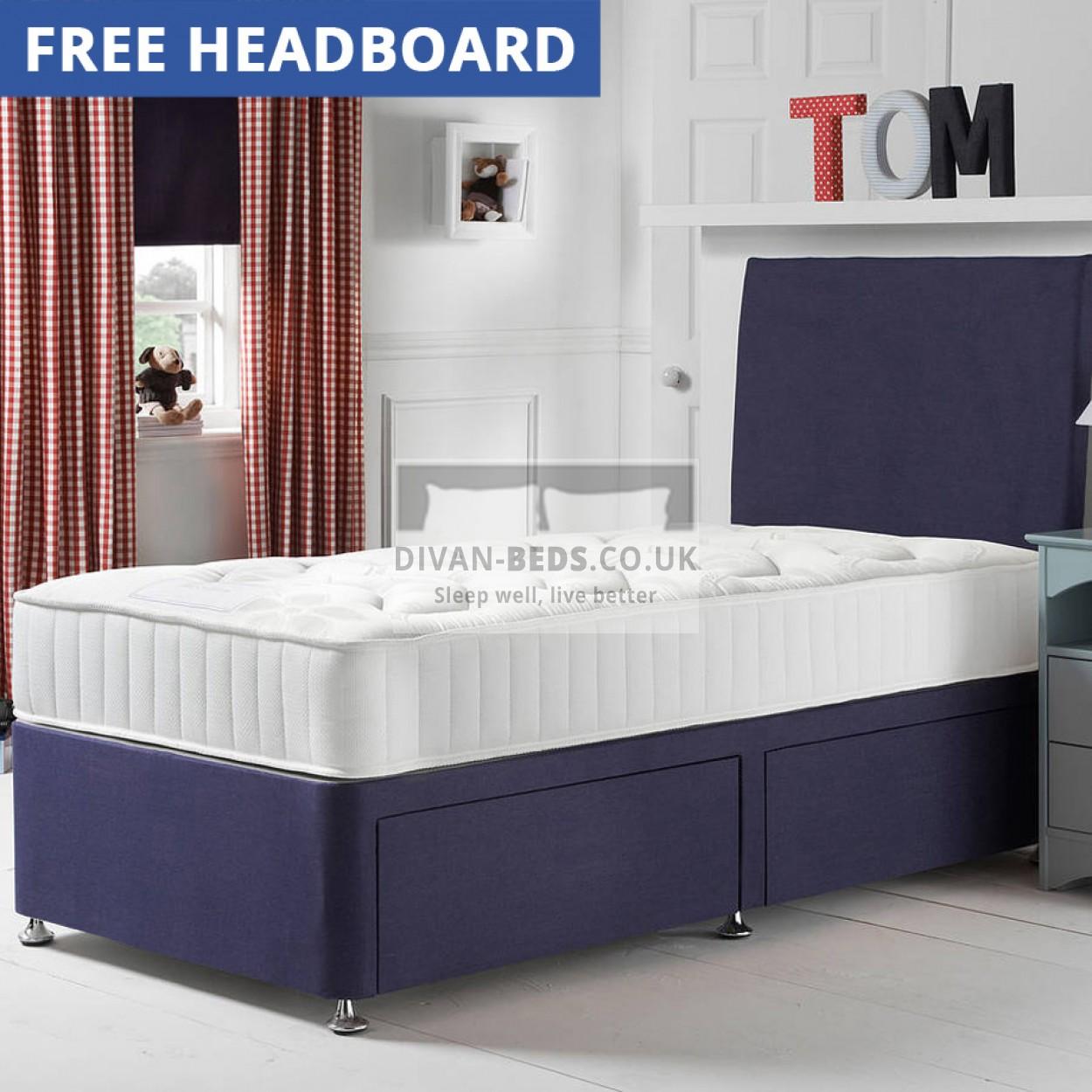 tom divan bed with childs quilted 1000 pocket spring. Black Bedroom Furniture Sets. Home Design Ideas