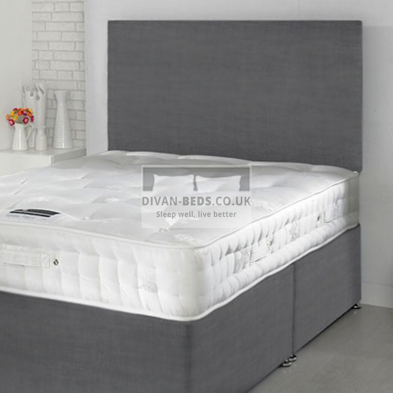 Fergus Divan Bed With 1500 Pocket Spring Memory Foam Mattress Guaranteed Cheapest Free