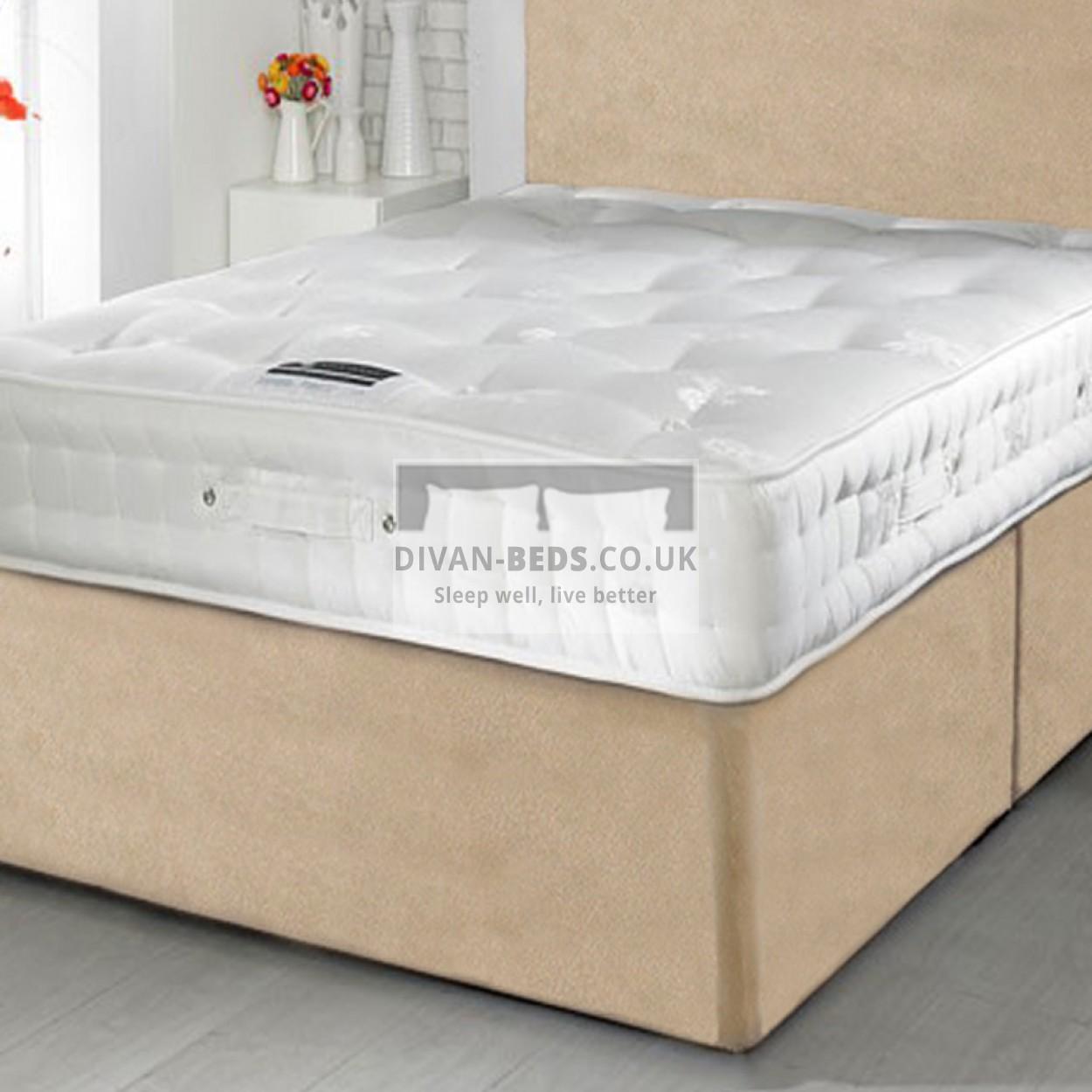 Rupert divan bed with 1500 pocket spring memory foam for Memory foam divan