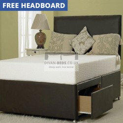 Hilliard Leather Divan Bed with 3000 Pocket Spring Mattress