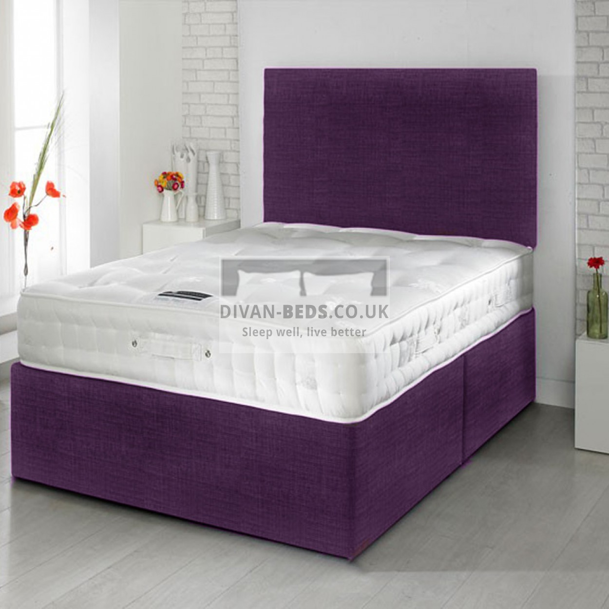 Robin Divan Bed With Spring Memory Foam Mattress Guaranteed Cheapest Free Fast Delivery
