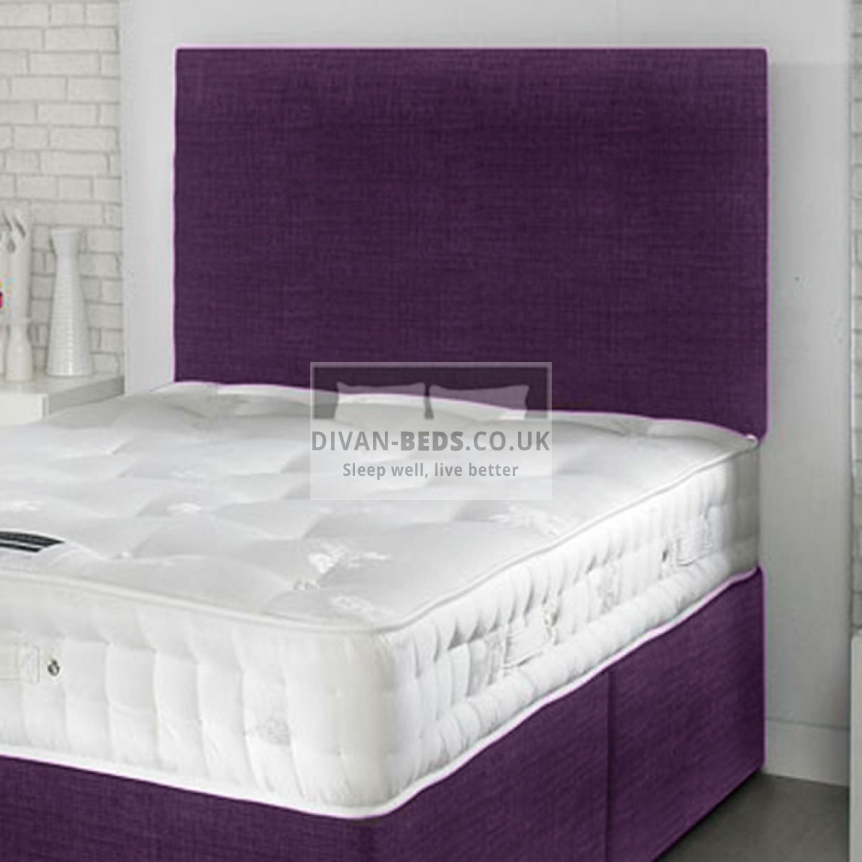 Robin divan bed with spring memory foam mattress for Divan bed with memory foam mattress