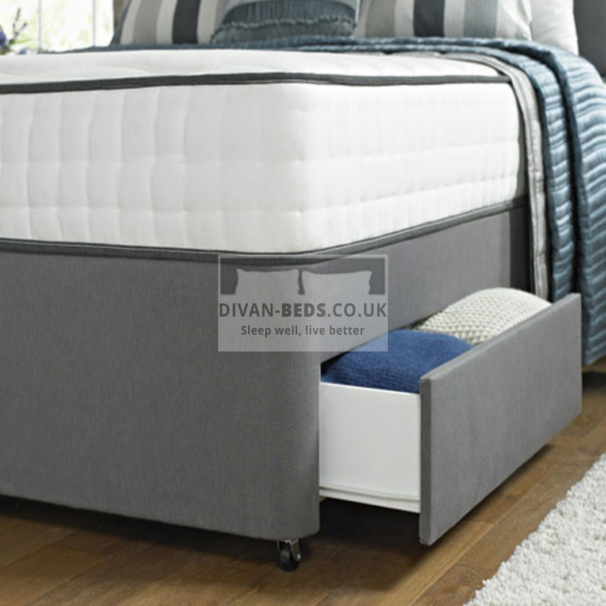 Astounding Franklin Divan Bed With Spring Memory Foam Mattress Squirreltailoven Fun Painted Chair Ideas Images Squirreltailovenorg