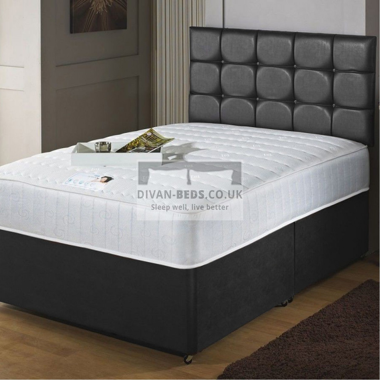 Westbury Quilted Divan Bed With Quilted Memory Foam Coil Spring Mattress Guaranteed Cheapest