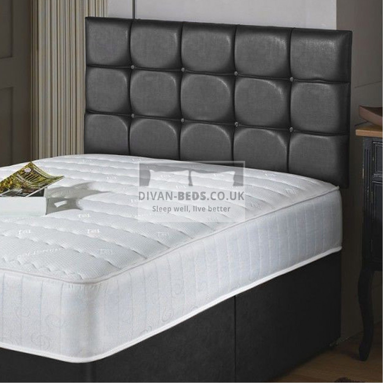 Westbury Quilted Divan Bed With Quilted Memory Foam Coil