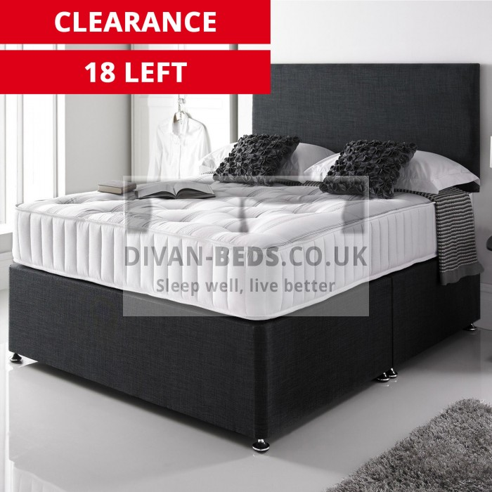 Giles Divan Bed with 3000 Pocket Spring Memory Foam Mattress