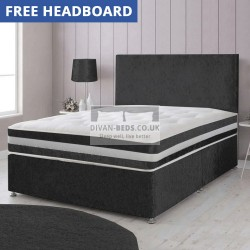 Harrison Crushed Velvet Divan Bed with 3D Airflow 1500 Pocket Spring Mattress