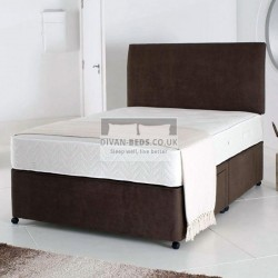 Lando Leather Divan Bed with Airflow Memory Foam Spring Mattress