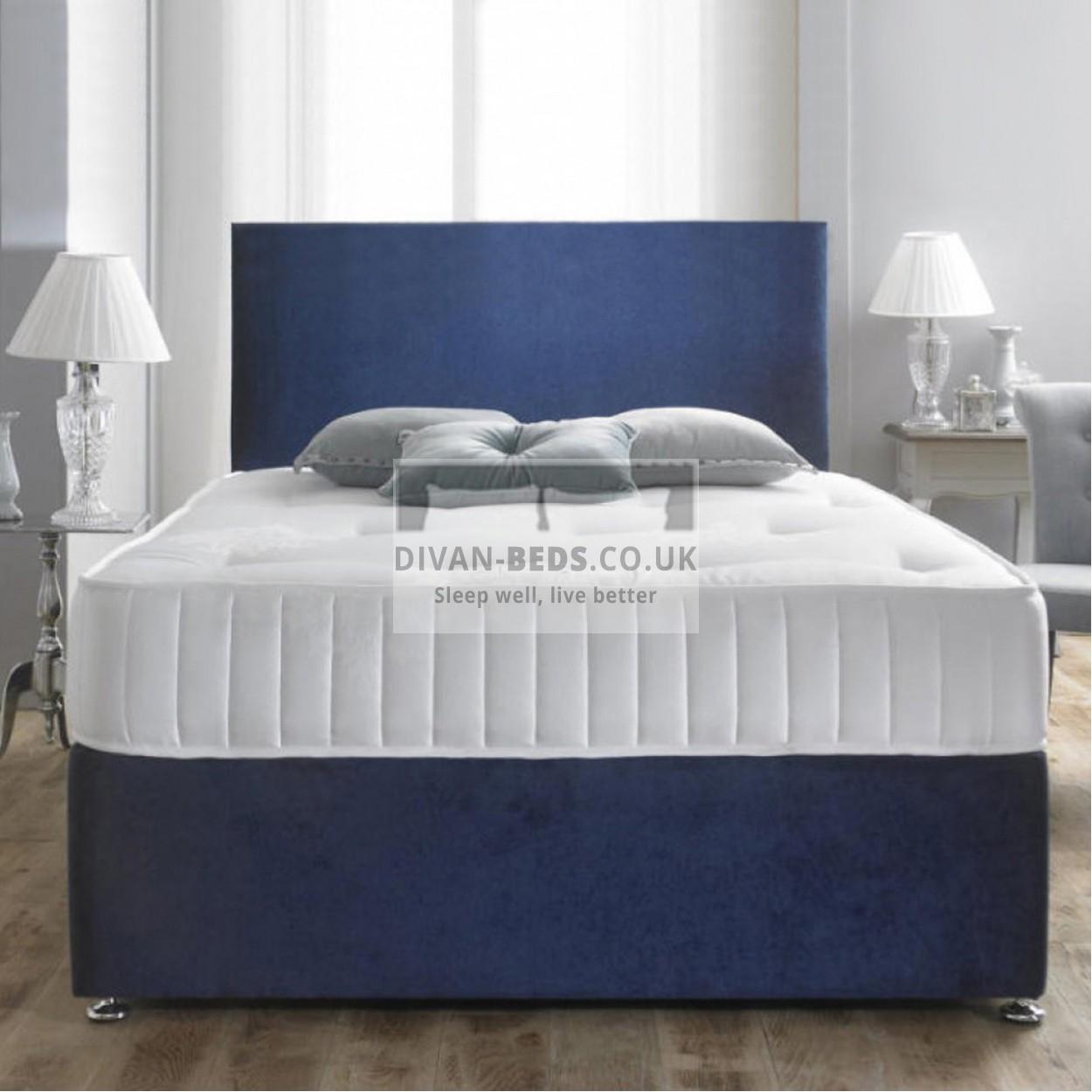 dante crushed velvet divan bed with spring memory foam. Black Bedroom Furniture Sets. Home Design Ideas
