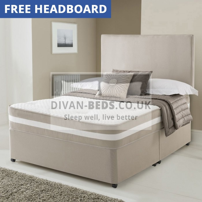 Clyde Divan Bed with Quilted Spring Memory Foam Mattress with Airflow
