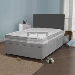 Benjamin Divan Bed with 2500 Pocket Spring Quilted Mattress with AirFlow