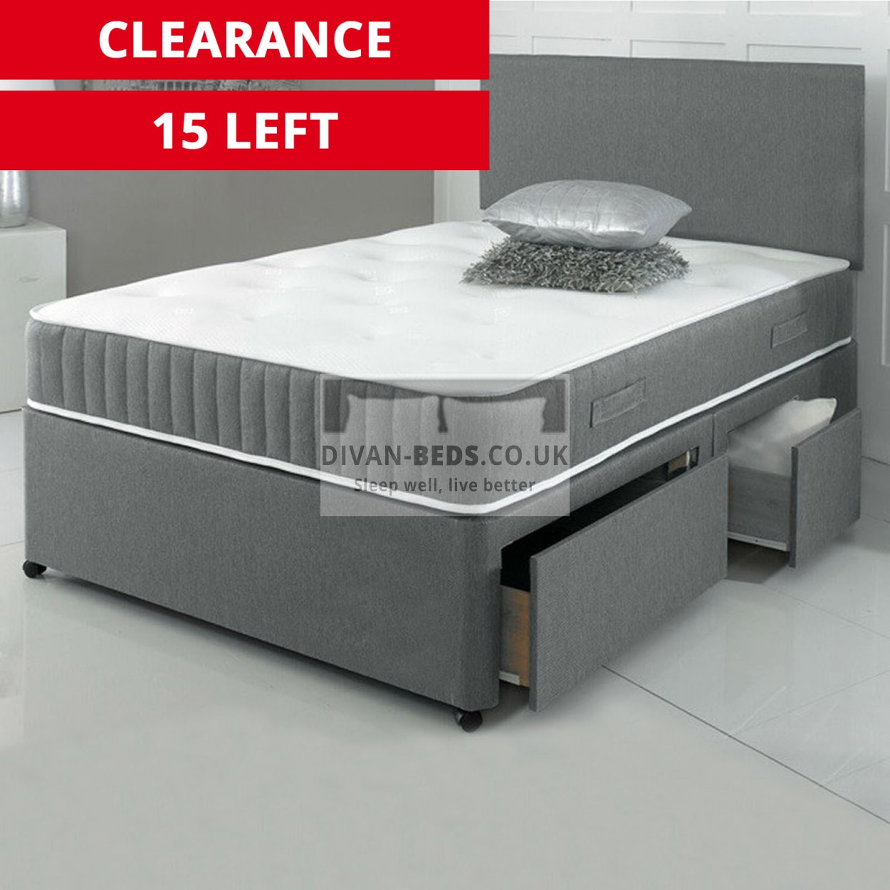 Carter Divan Bed With 3000 Pocket Spring Memory Foam