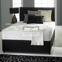 Victoria Damask Cotton Divan Bed Set with Orthopaedic Spring Memory Foam Mattress