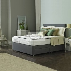 Royal Memory Divan Bed Set with High Density Open Spring Memory Foam Mattress