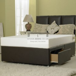 Manresa Divan Leather Bed Base Only Available With Multiple Storage Options