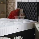 Chesterfield Divan Bed with Micro Quilted Dual Spring Memory Foam Mattress