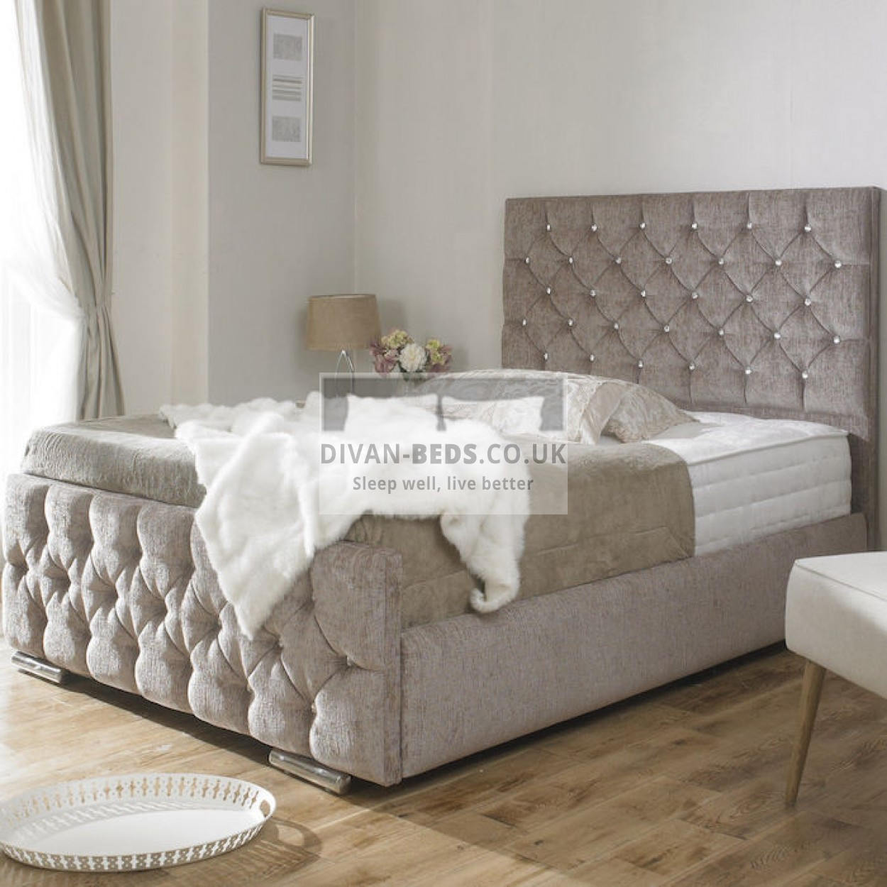 Upholstered Panel Queen Bed Frame