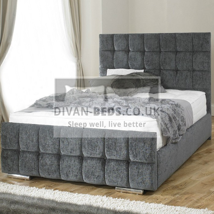 Renata Cube Fabric Upholstered Bed Frame Guaranteed
