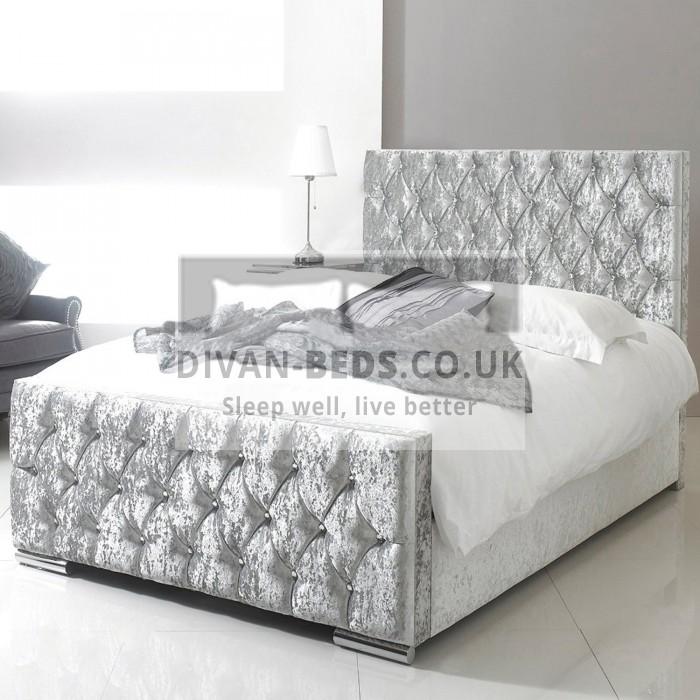 Fiona Luxury Crushed Velvet Fabric Upholstered Bed Frame