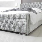 Fiona Luxury Crushed Velvet Fabric Upholstered Bed Frame