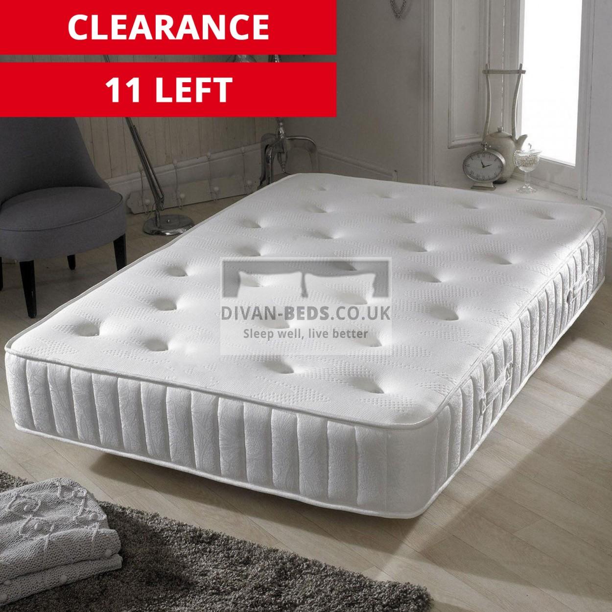 fiona crushed velvet fabric bed with pocket spring matt