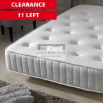 Fiona Crushed Velvet Fabric Bed with 1500 Pocket Spring Mattress