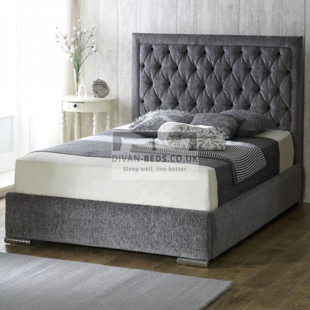 Belinha fabric upholstered bed frame guaranteed cheapest for Divan upholstered bed