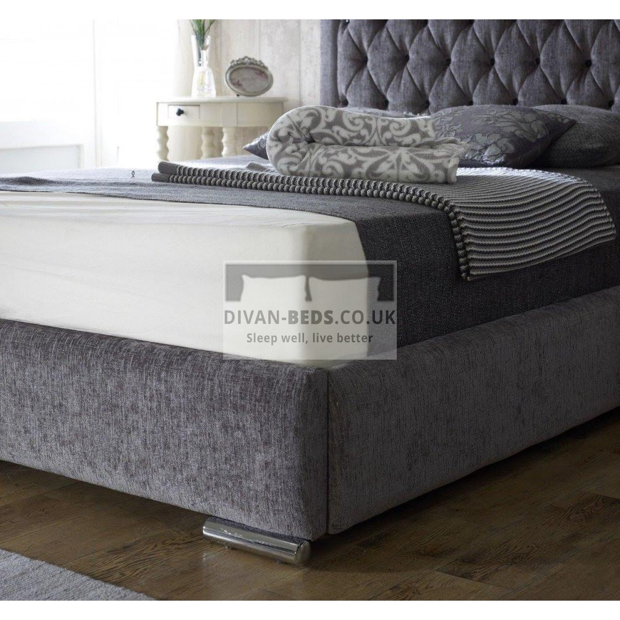 Bethel Fabric Upholstered Bed Frame Guaranteed Cheapest