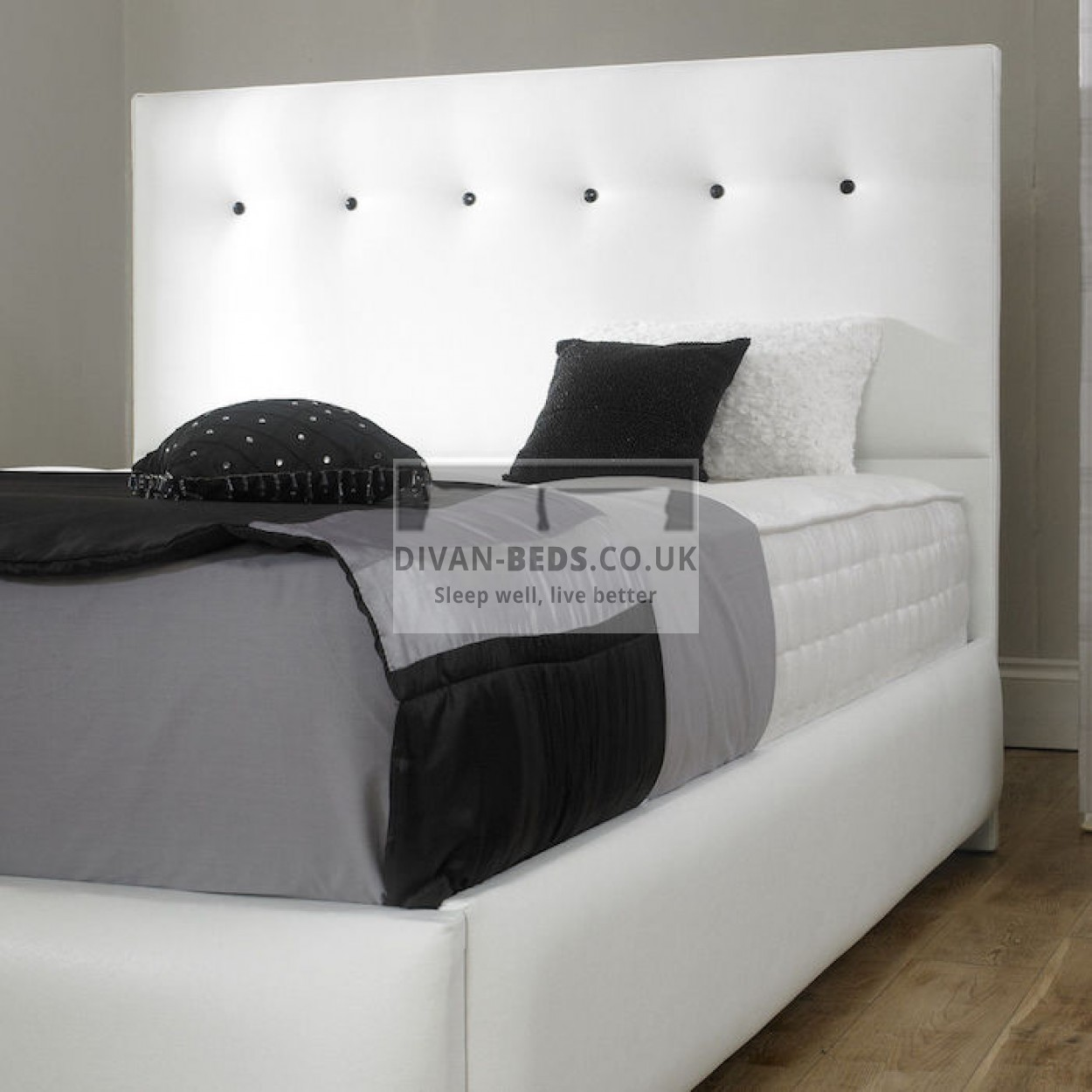 Pearl diamond fabric upholstered bed frame guaranteed for Diamond bed frame