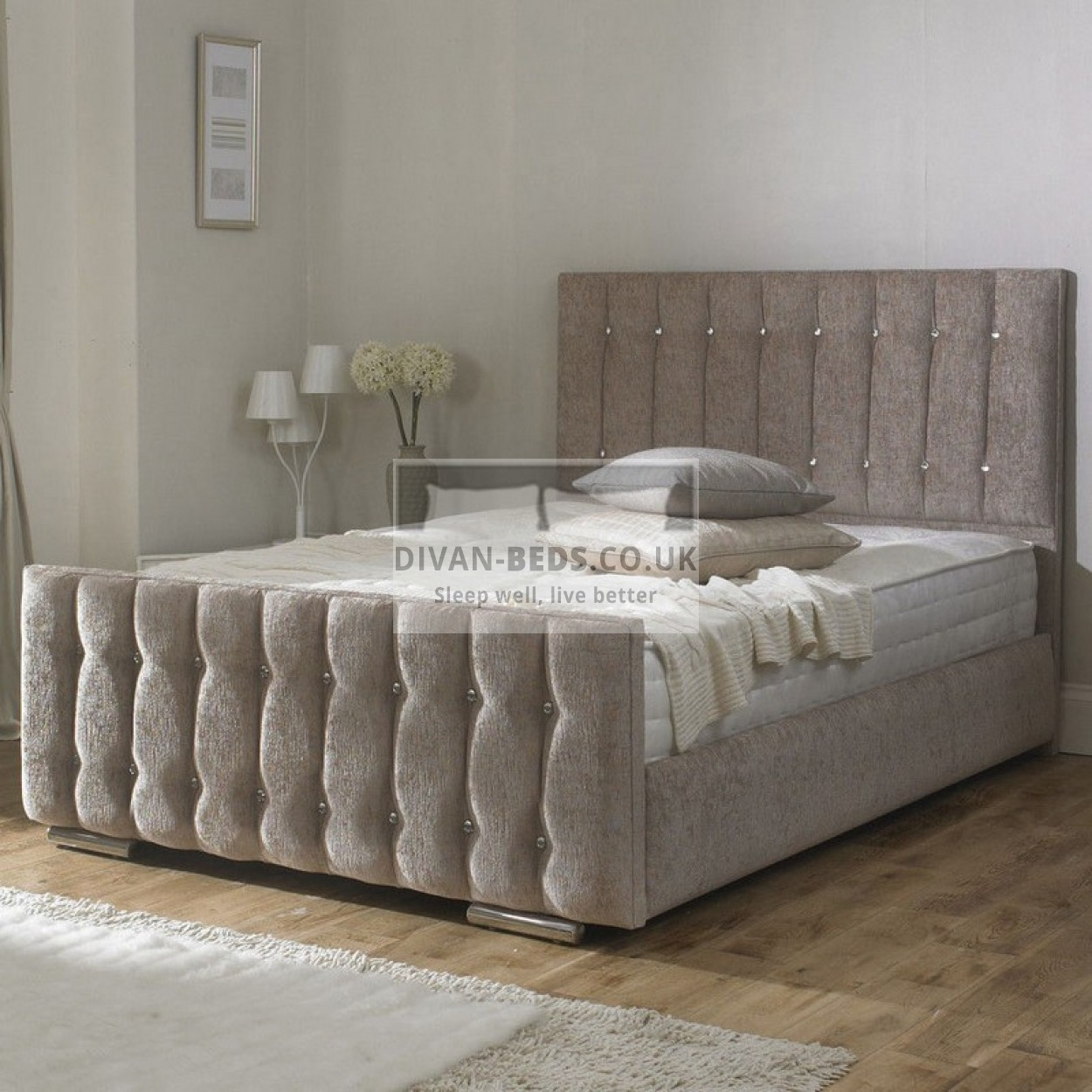 Karina fabric upholstered bed frame guaranteed cheapest for Upholstered bedframes