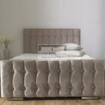 Karina Fabric Upholstered Bed Frame