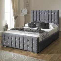Kalyn Velvet Fabric Upholstered Bed Frame