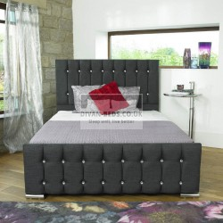 Annette Diamond Fabric Upholstered Bed Frame