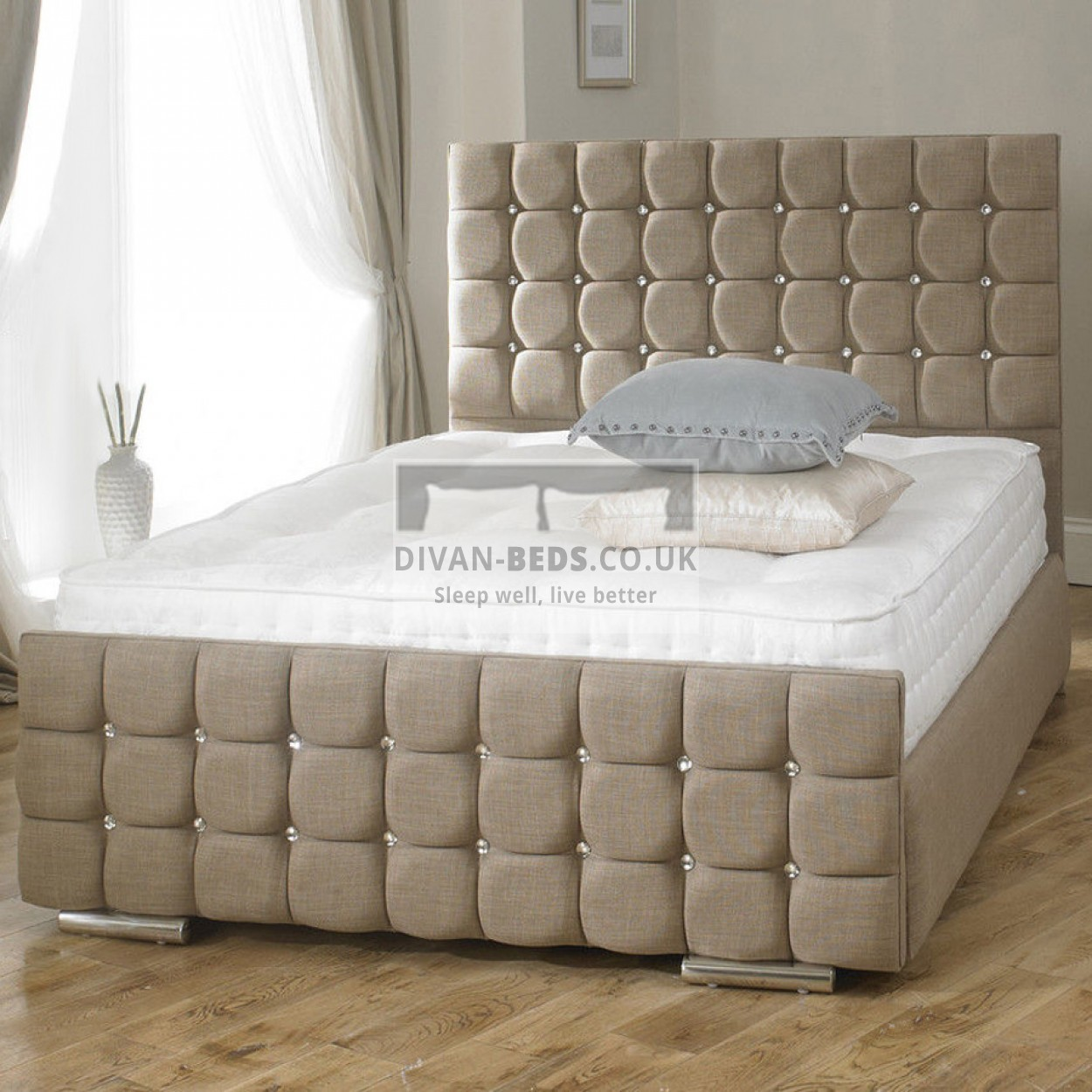 Erin fabric upholstered bed frame guaranteed cheapest for Upholstered bedframes