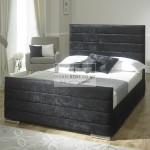 Athena Velvet Fabric Upholstered Bed Frame